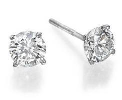 עגילי יהלומים צמודי אוזן - 0.80 קארט