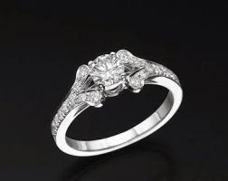 טבעת אירוסין בעיצוב נצחי משגע- אודרי