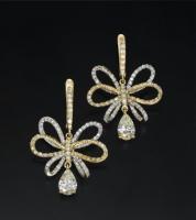 עגילי יהלומים מעוצבים - עדן