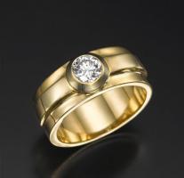 טבעת אירוסין  עבה - שיקגו