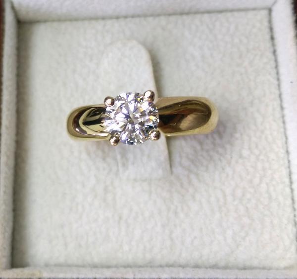 עיצובים של דיימונד ספינקס  - טבעת אירוסין יהלום 1 קארט